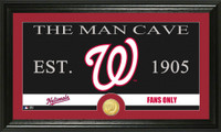 Washington Nationals The Man Cave Bronze Coin Panoramic Photo Mint