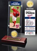 Stephan Strasburg Ticket & Bronze Coin Desk Top Acrylic
