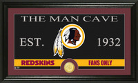 Washington Redskins The Man Cave Bronze Coin Panoramic Photo Mint