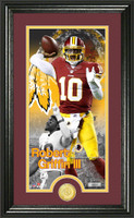 Robert Griffin III Supreme Bronze Coin Panoramic Photo Mint