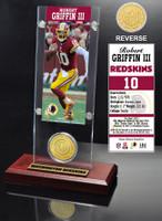 Robert Griffin III Ticket & Bronze Coin Acrylic Desk Top