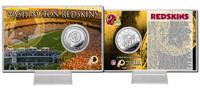 Washington Redskins Silver Coin Card