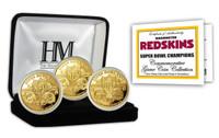 Washington Redskins 3-time Super Bowl Champions Gold Game Coin Set