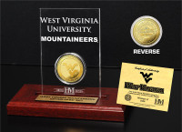 West Virginia University 24KT Gold Coin Etched Acrylic