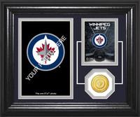 Winnipeg Jets Fan Memories Bronze Coin Desktop Photo Mint