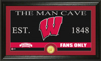 University of Wisconsin Man Cave Bronze Coin Panoramic Photo Mint