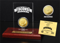 University of Wisconsin 24KT Gold Coin Etched Acrylic
