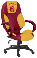 USC Trojans Commissioner Leather Office Chair