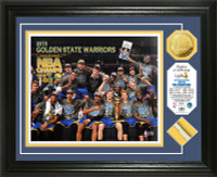Golden State Warriors 2015 NBA Finals Champions Game Used Net and Gold Coin Photo Mint