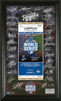*Kansas City Royals 2015 World Series Signature Ticket