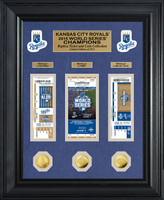 Kansas City Royals 2015 World Series Champions 3pc Gold Coin & Ticket Collection LE 2015