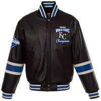 **Kansas City Royals 2015 World Series Champions Leather Jacket
