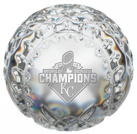 **Kansas City Royals 2015 World Series Champions Solid Crystal Baseball LE 5000