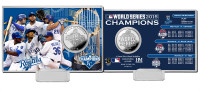 *Kansas City Royals 2015 World Series Champions Silver Coin Card