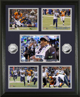 *Seahawks Super Bowl XLVIII Champs Memorable Moments 2pc Silver Coin Photo Mint
