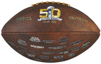 **Super Bowl 50 Official Wilson Composite Leather Logo Football (Brown)