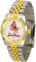Arizona State Sun Devils Executive  2-Tone 23k Gold Stainless Steel Watch (Men's or Women's)