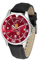 Arizona State Sun Devils Competitor AnoChrome Leather Watch with Colored Bezel (Men's or Women's)