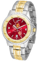 Arizona State Sun Devils Competitor 2-Tone 23k Gold AnoChrome Stainless Steel Watch (Men's or Women's)
