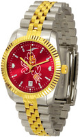 Arizona State Sun Devils Executive  2-Tone 23k Gold AnoChrome Stainless Steel Watch (Men's or Women's)