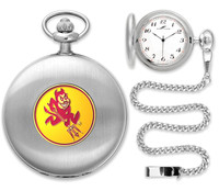 Arizona State Sun Devils Silver Plated Pocket Watch