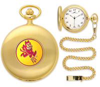 Arizona State Sun Devils Gold Plated Pocket Watch