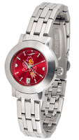 Arizona State Sun Devils Ladies Silver Stainless Steel Dynasty AnoChrome Watch