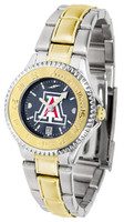 Arizona Wildcats Competitor 2-Tone 23k Gold AnoChrome Stainless Steel Watch (Men's or Women's)