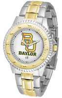 Baylor Bears Competitor 2-Tone 23k Gold Stainless Steel Watch (Men's or Women's)