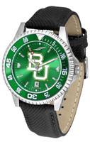 Baylor Bears Competitor Crimson AnoChrome Leather Watch with Colored Bezel (Men's or Women's)