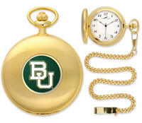 Baylor Bears Gold Plated Pocket Watch