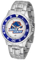Boise State Broncos Competitor Stainless Steel Watch (Men's or Women's)