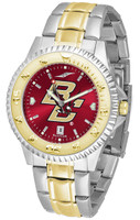 Boston College Eagles Competitor 2-Tone 23k Gold AnoChrome Stainless Steel Watch (Men's or Women's)
