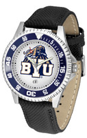 BRIGHAM YOUNG COUGARS Competitor Leather Watch (Men's or Women's)