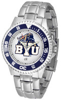BRIGHAM YOUNG COUGARS Competitor Stainless Steel Watch (Men's or Women's)