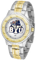 BRIGHAM YOUNG COUGARS Competitor 2-Tone 23k Gold Stainless Steel Watch (Men's or Women's)