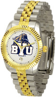 BRIGHAM YOUNG COUGARS Executive  2-Tone 23k Gold Stainless Steel Watch (Men's or Women's)