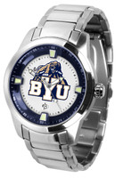 BRIGHAM YOUNG COUGARS Titan Stainless Steel Watch