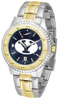 BRIGHAM YOUNG COUGARS Competitor 2-Tone 23k Gold AnoChrome Stainless Steel Watch (Men's or Women's)