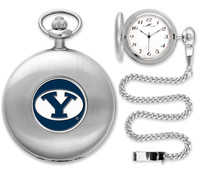 BRIGHAM YOUNG COUGARS Silver Plated Pocket Watch