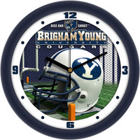 BRIGHAM YOUNG COUGARS 12 Inch Round Wall Clock