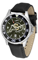 Colorado Buffaloes Competitor Crimson AnoChrome Leather Watch with Colored Bezel (Men's or Women's)