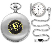 Colorado Buffaloes Silver Plated Pocket Watch