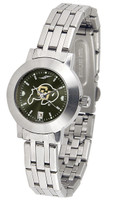 Colorado Buffaloes Ladies Silver Stainless Steel Dynasty AnoChrome Watch