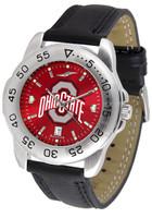 Ohio State Buckeyes Sport Leather AnoChrome Watch (Men's or Women's)