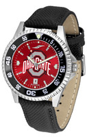 **Ohio State Buckeyes Competitor AnoChrome Leather Watch with Colored Bezel (Men's or Women's)
