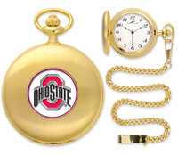 Ohio State Buckeyes 2014 National Champions Gold Plated Pocket Watch