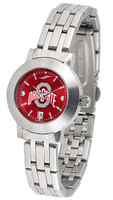 Ohio State Buckeyes 2014 National Champions Ladies Silver Stainless Steel Dynasty AnoChrome Watch