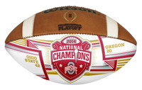 **Ohio State Buckeyes 2014 National Championship Game White Panel Football
