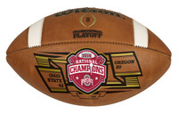 **Ohio State Buckeyes 2014 National Championship Game Wilson Brown Leather Football LE